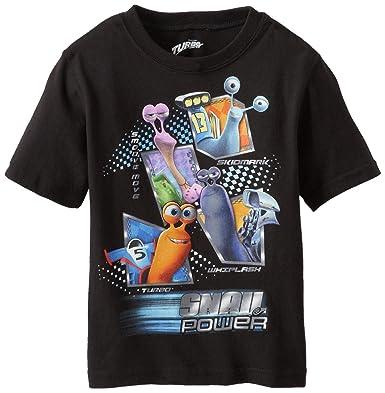2202691e Amazon.com: Dreamworks Little Boys' Turbo Snail Power T-Shirt, Black ...