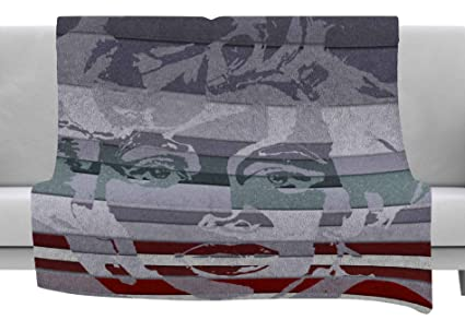 40 x 30 Fleece Blanket Kess InHouse Ivan Joh Star Monroe Lavender Green Throw