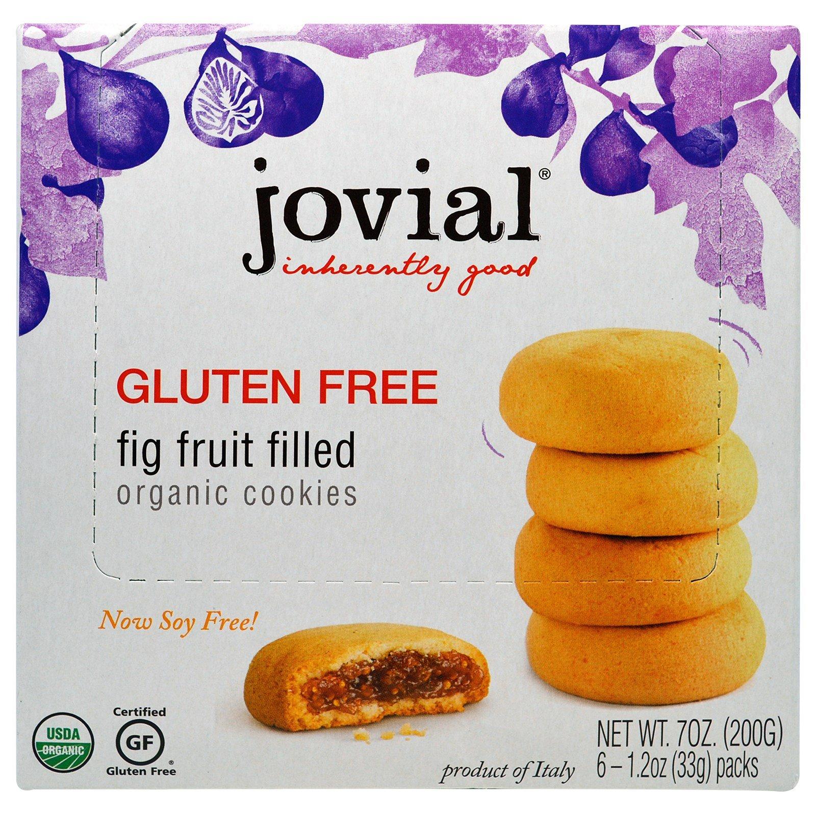 Jovial, Organic Cookies, Fig Fruit Filled, 6 Packs, 1.2 oz (33 g) Each - 3PC