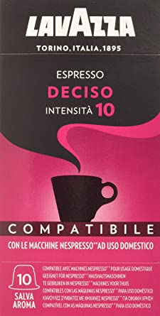 Oferta amazon: Lavazza Cápsulas de Café Compatibles Nespresso Espresso Deciso, Paquetes de 10 x 10 Cápsulas (Total: 100 Cápsulas)