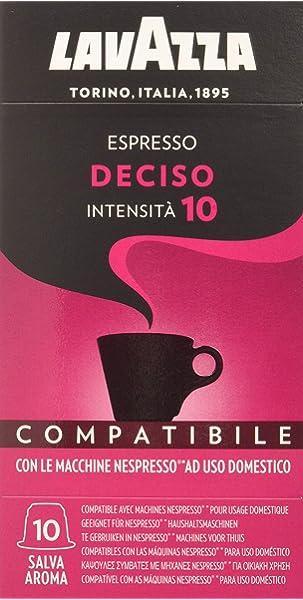 Luscioux Adagio Dek cápsulas compatibles Lavazza Blue |Aroma intenso descafeinado.Envase de 100 cápsulas: Amazon.es: Alimentación y bebidas