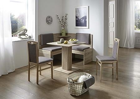 Vendita Panche Per Cucina.Moebel Store24 Panca Angolare Java In Rovere Sonoma Decorazione 2 X Sedie Tavolo Amazon It Casa E Cucina