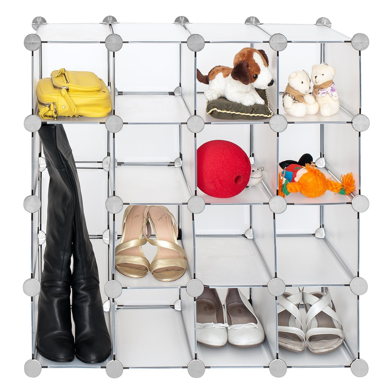 Attirant Amazon.com: Tatkraft Smart Interlocking Storage Shelves Cube Modular Shoe  RackBook Shelves Multi Function Organizer: Home U0026 Kitchen