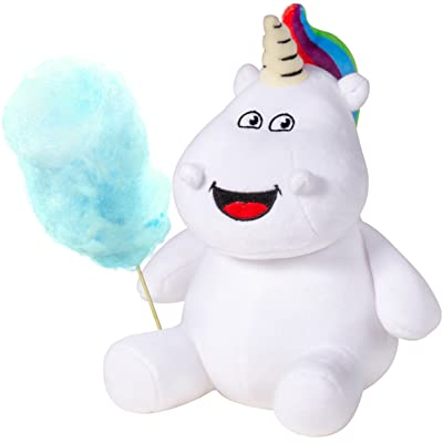 "Sparkle Toots Cotton Candy Bundle - Includes Tooting Unicorn 8"" Plush and Delicious Cotton Candy - Blueberry Flavored, Gluten Free, USA Made - Unique Gag Gift, Funny for All Ages: Toys & Games"