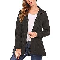 Women Waterproof Hooded Raincoat Active Outdoor Lightweight Packable Rain Coat Jacket