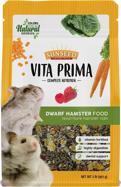 Sunseed Vita Prima Complete Nutrition Dwarf Hamster Food, 2 LBS
