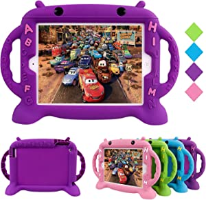 CHINFAI Kids Proof Case for iPad 2 3 4 - Shockproof Silicone Protective Cover Self Stand Case with Portable Handles for Apple iPad 2nd 3rd 4th Generation 9.7 Inch (Purple)