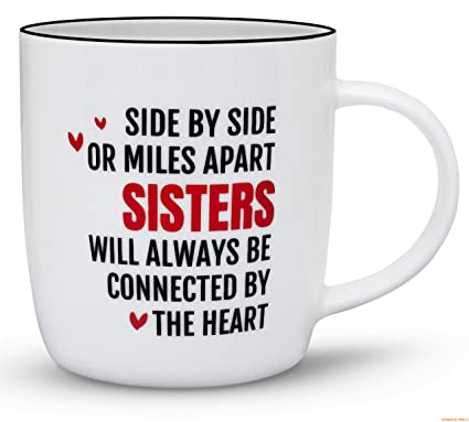 Gifffted Best Sister Ever Coffee Mug Funny Sisters Day Gifts From Birthday Gift