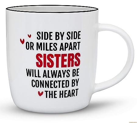 Gifffted Tasse Side By Side Sisters Fur Beste Schwester Lustige
