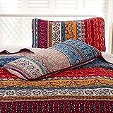 WONGS BEDDING Bohemian Quilt Set Queen, Boho