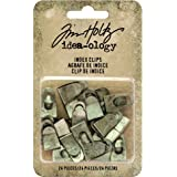 Index Clips by Tim Holtz Idea-ology, Antique Nickel Finish, Approximately 0.75 Inches, 24 Clips (TH93574)