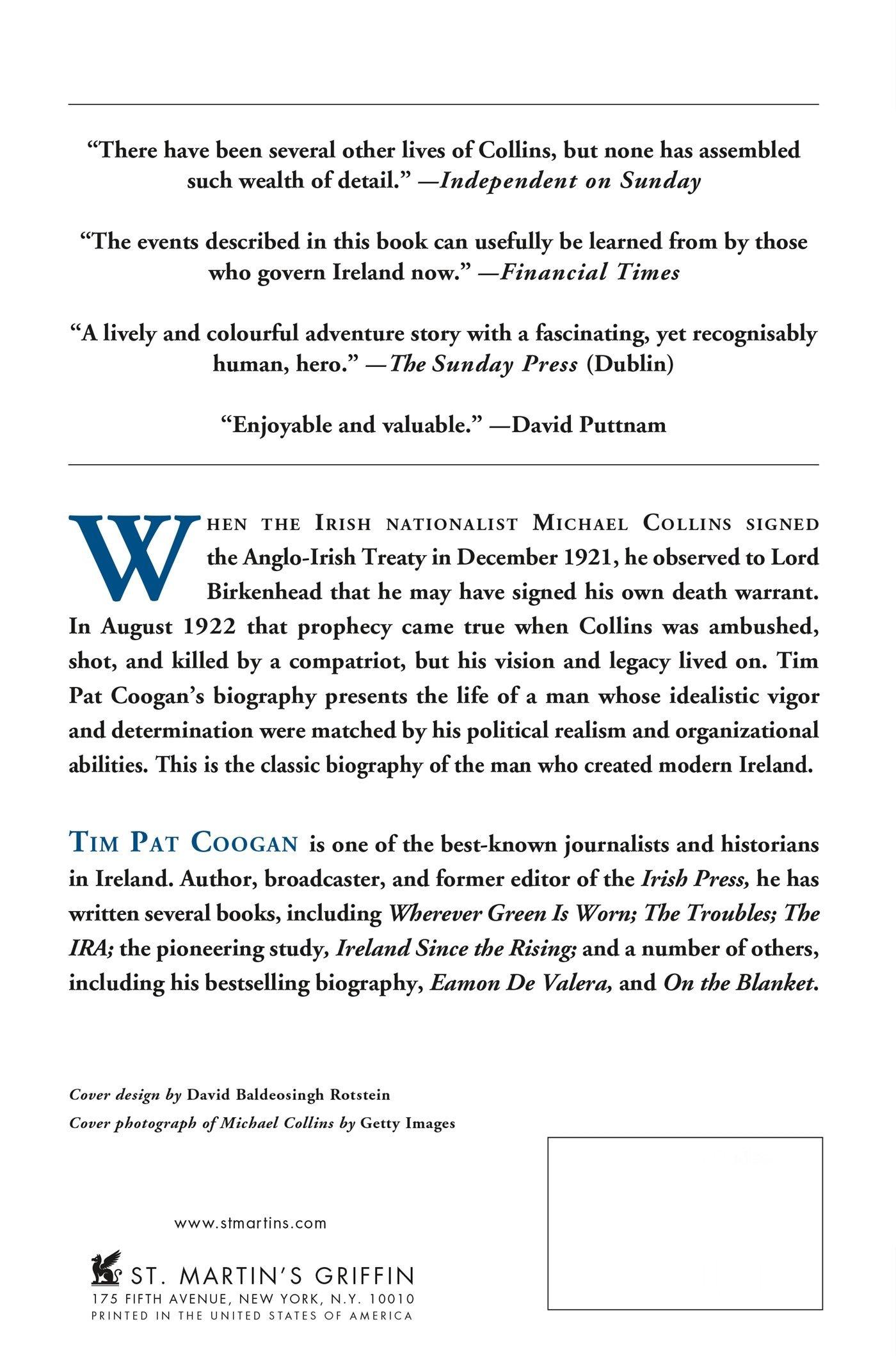 Amazon: Michael Collins: The Man Who Made Ireland (9780312295110): Tim  Pat Coogan: Books