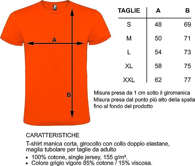 Uomo E Donna Vari Colori E Taglie Maglietta T-Shirt con Stampa Personalizzata Personalizzabile