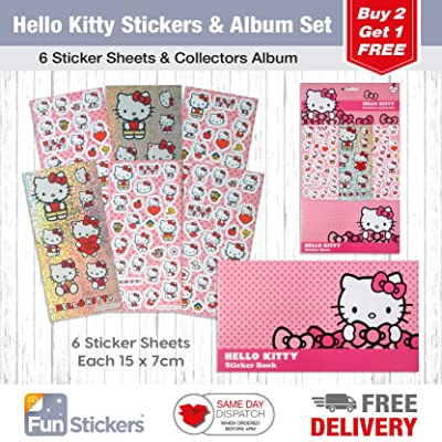 Hello Kitty Sticker Album 6 Sheets: Kitchen & Dining