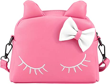 SUNMALL Little Girl Crossbody Shoulder Handbag Kid Purse Mini Backpack Bags Pink