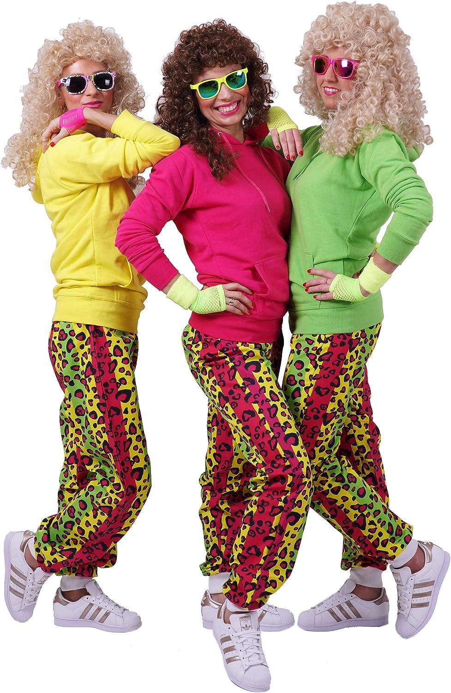 RUNSTYLE FetteParty Deluxe Trainingsanzug Outfit Neon Hoodie und Hose Kaneval Mottoparty ABI Partys JGA 80-er 90-er Jahre Erwachsenenkost/üm S//M, Neon Gelb