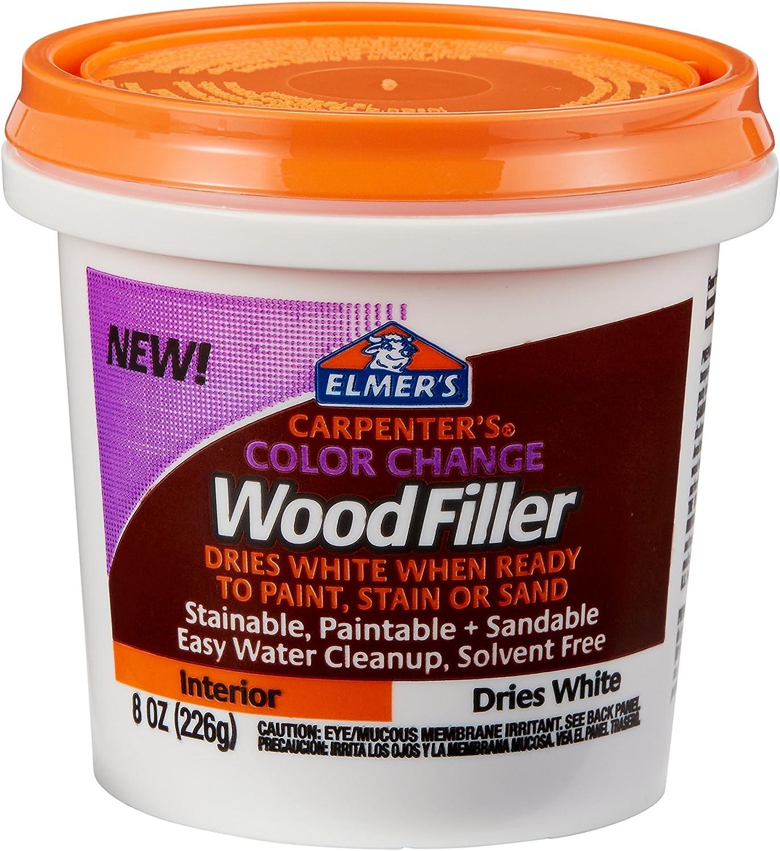 6. Elmer's Carpenter's Color Change Wood Filler (E916)