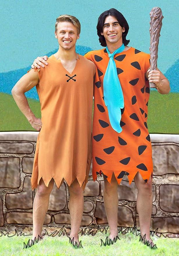 RD 15744 Mens Costume Fancy Dress Licensed Flintstones Barney Rubble Caveman