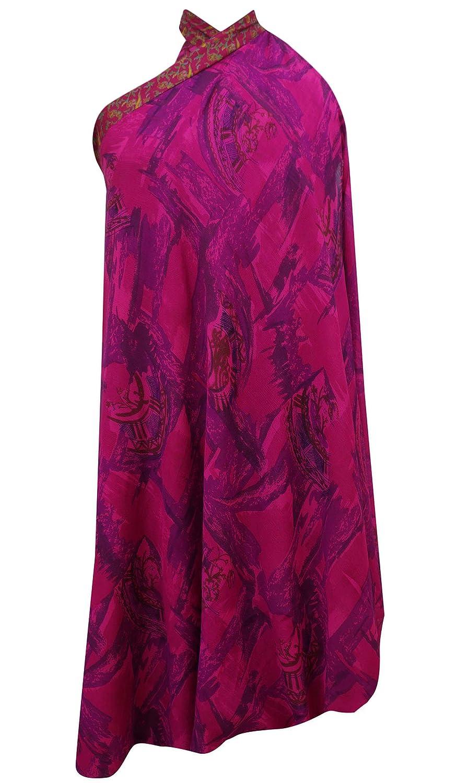 7a2950fb4eba48 Vintage Saree Skirt Pure Silk Printed Reversible Magic Hippie Summer Wear   Amazon.co.uk  Clothing