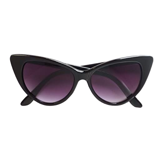 0f32931ad2f Image Unavailable. Image not available for. Color  VINTAGE Inspired Women 50s  Cat Eye Style Fashion Sunglasses BLACK