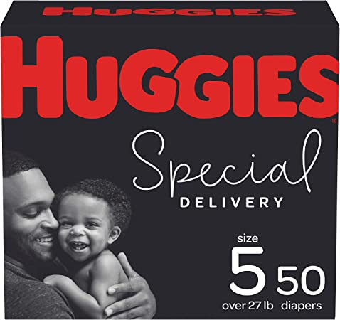 Hypoallergenic Baby Diapers Size 5, 50 Ct, Huggies Special Delivery