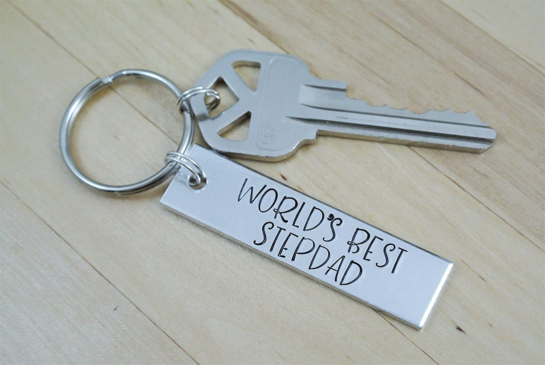 Stepdad Gift Worlds Best Stepdad Keychain Stepfather Gift Fathers Day Gift For Stepfather