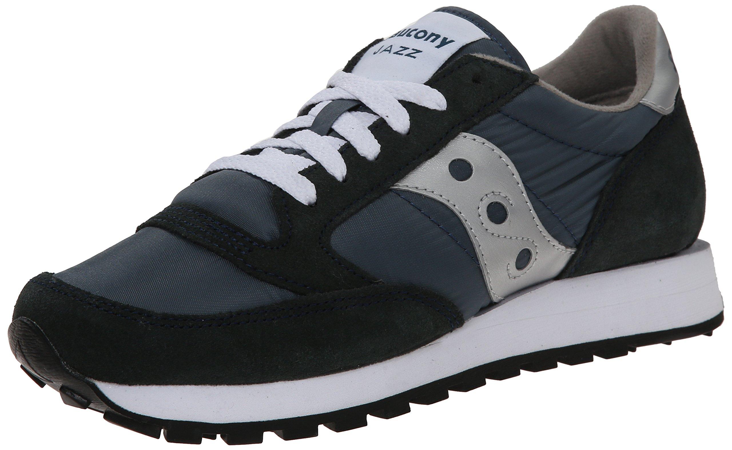 Saucony Originals Men's Jazz Sneaker,Navy/Silver,4 M