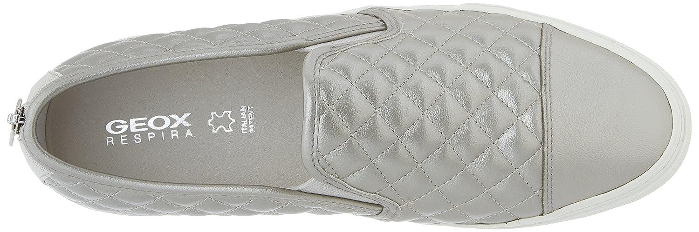 Geox Silber D Giyo Damen Slipper Silber Geox (Weißc1000) fd6dc7