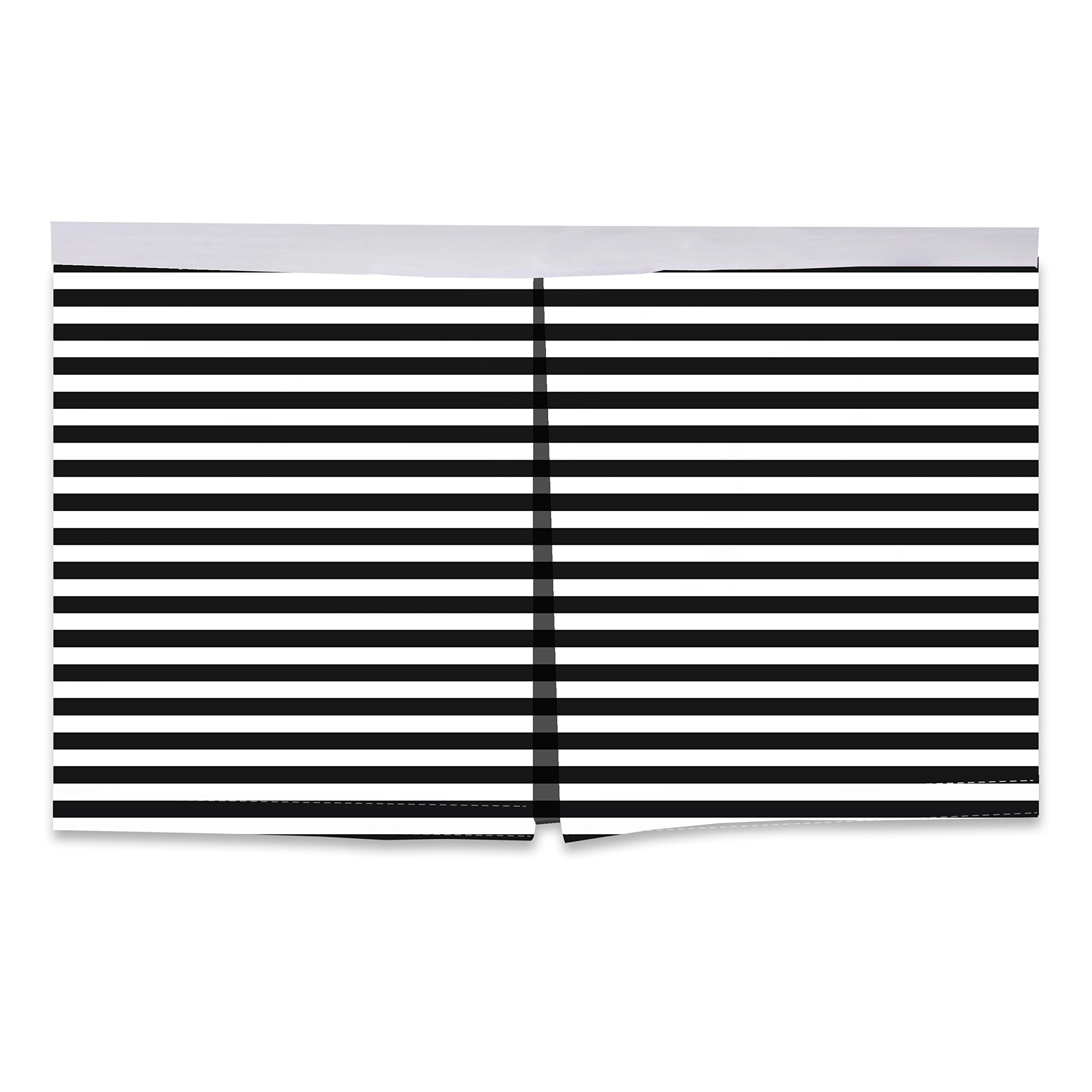 Bacati Pin Stripes Crib/Toddler Bed Skirt, White/Black, 13''