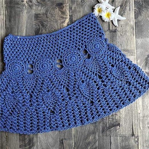 Shengdasm Faldas de Ganchillo for Mujer, Falda Minifalda de Encaje ...