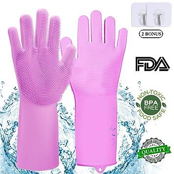 Amazon.com: Guantes de limpieza de silicona para lavar ...