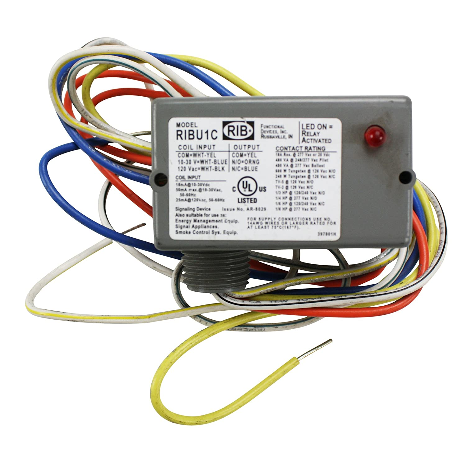 Amazoncom Functional Devices RibuC Rib Relay Enclosed  Amp - English electric relay application guide