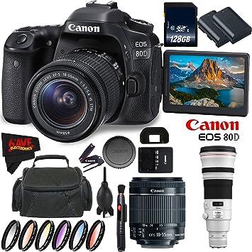 Amazon.com: Canon EOS 80d cámara réflex digital con lente 18 ...
