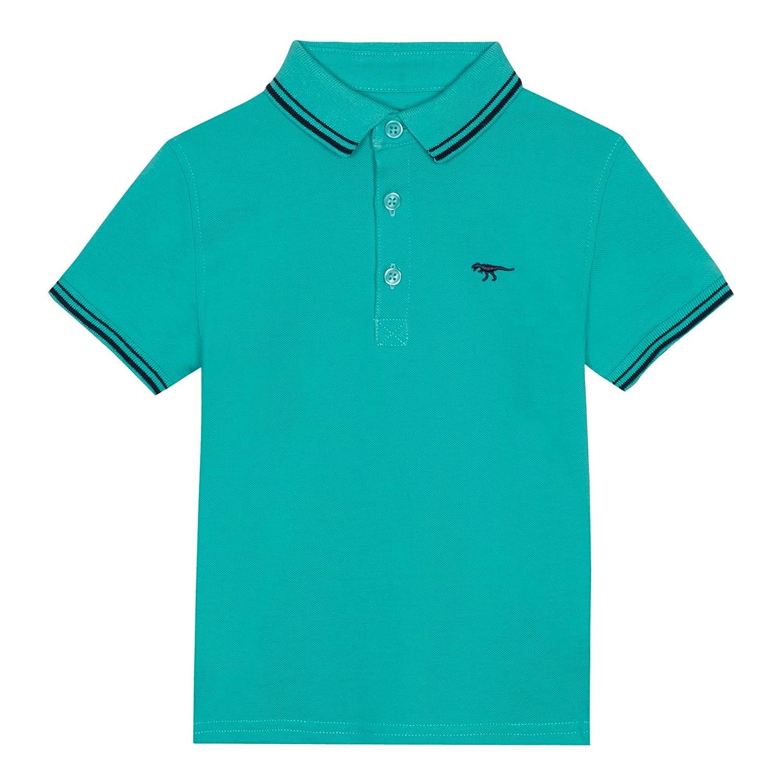 bluezoo Kids Boys' Green Tipped Polo Shirt