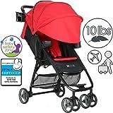 ZOE Umbrella XL1 Single Stroller, DELUXE - Red