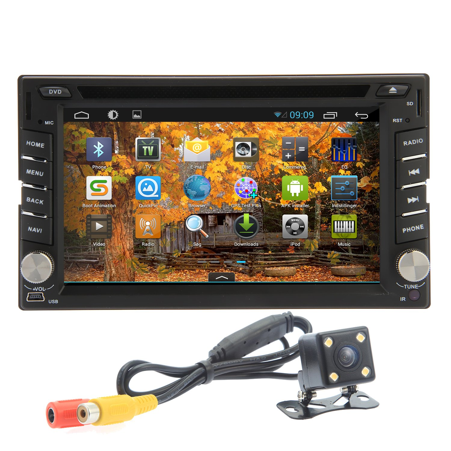 Amazoncom Oukurear Camera Included 2015 Best Sellers 3d Android Ouku Car Stereo Wire Harness 42 Double Din 62 Inch Capacitive Touch Screen Dvd Player Radio In Dash Gps