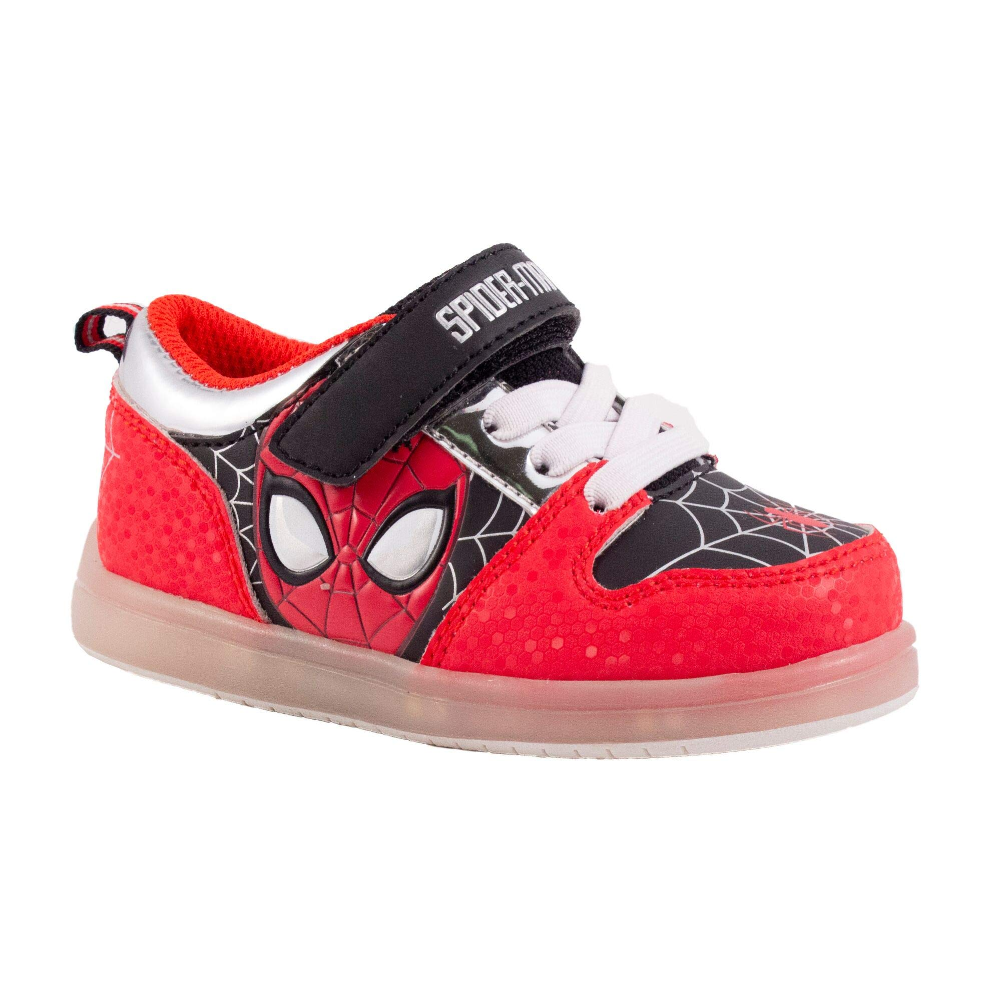 Favorite Characters Boys Marvel Spider-Man Motion Lighted Sneaker (Toddler/Little Kid), Size 11 Red