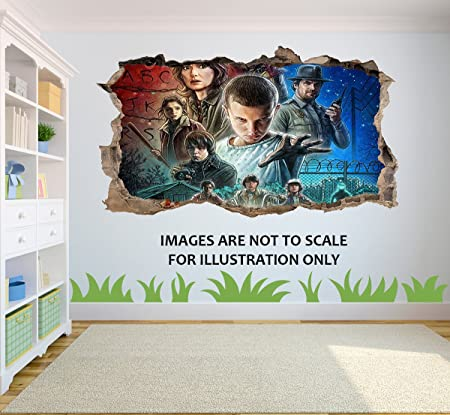 Stranger Things 3D effect Wall Sticker suitable for Kids Bedroom walls doors and glass windows  sc 1 st  Amazon UK & Stranger Things 3D effect Wall Sticker suitable for Kids Bedroom ...