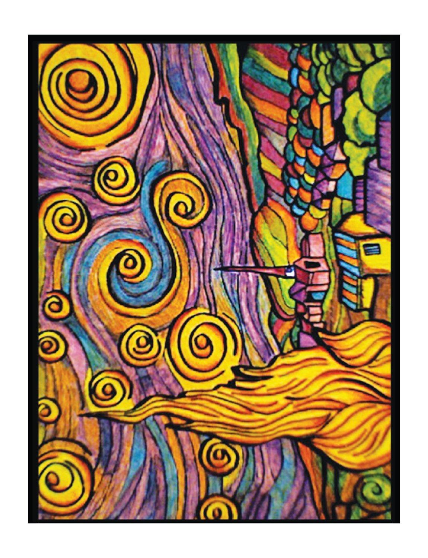 Colorvelvet 47 X 35 Cm Noche Estrellada De Van Gogh
