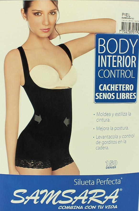 e6bcfc9f38 Samsara Colombian Seamless Butt Lift Under Bra Vest Slimming Body Shaper -  Beige -  Amazon.co.uk  Clothing