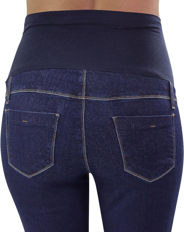 Lavaggio Scuro Svasati Made in Italy Colore Indigo Intenso Zampa di Elefante MAMAJEANS Trieste Basic Jeans Premaman Bootcut Molto Comodo