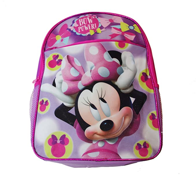 f1f7293f686 Image Unavailable. Image not available for. Color  Minnie Mouse BOW POWER  16 quot  Officially Licensed Disney Girls Backpack
