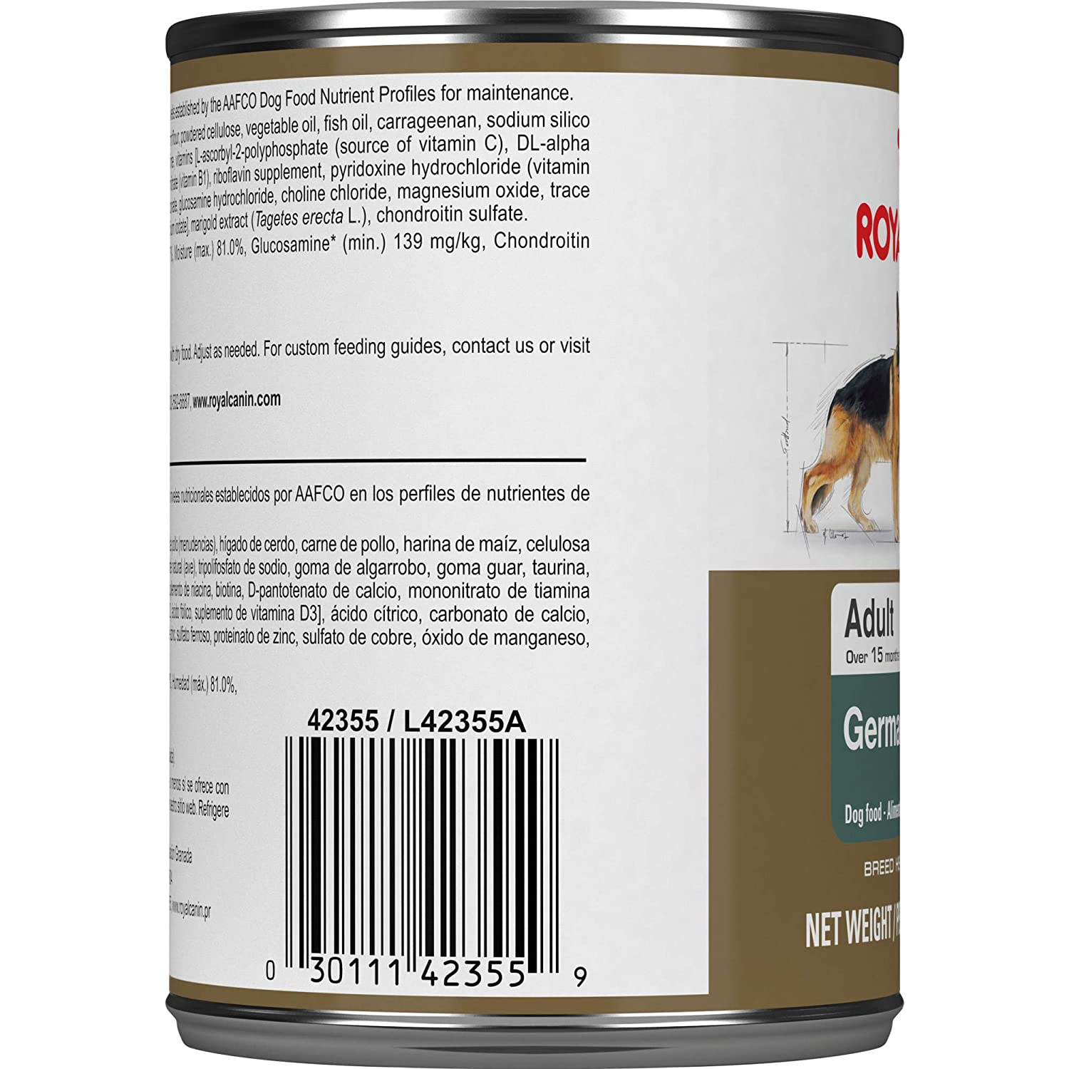 Royal Canin Breed Health Nutrition German Shepherd Loaf in Sauce Canned Adult Dog Food, 13.5 Ounce Can (Pack of 12): Pet Supplies: Amazon.com