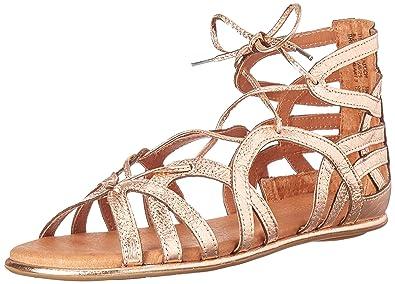 60477133f7cf Gentle Souls Women s Break My Heart Lace Up Gladiator Sandal Flat
