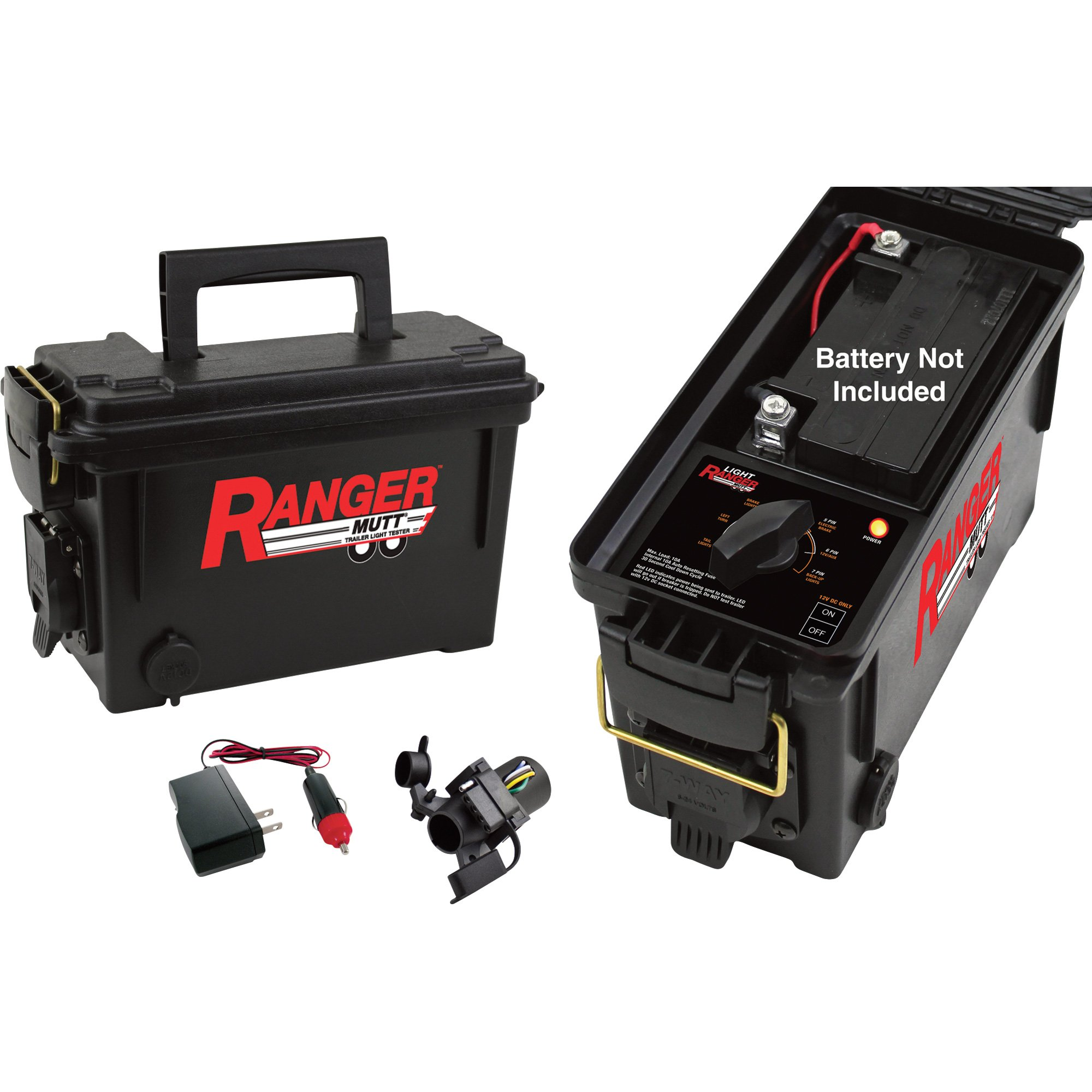 IPA Light Ranger MUTT RV and Utility-Type Trailer Tester - Tests 7-Spade, 6-Round and 4/5 Pin Harnesses, Model# 9101