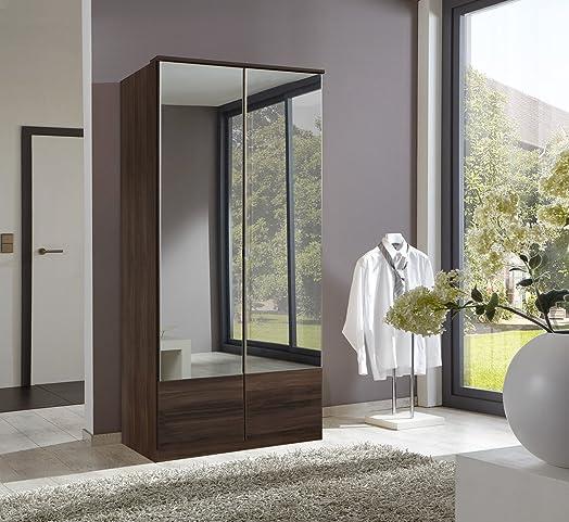 Lovely German Imago Walnut 2 Door Mirror Door Wardrobe