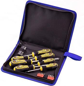 JKR Tools - Juego de destornilladores con estuche (28 piezas): Amazon.es: Bricolaje y herramientas