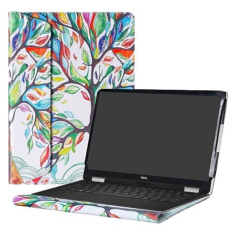 """Alapmk Diseñado Especialmente La Funda Protectora de Cuero de PU Para 13.3"""" Dell XPS 13"""