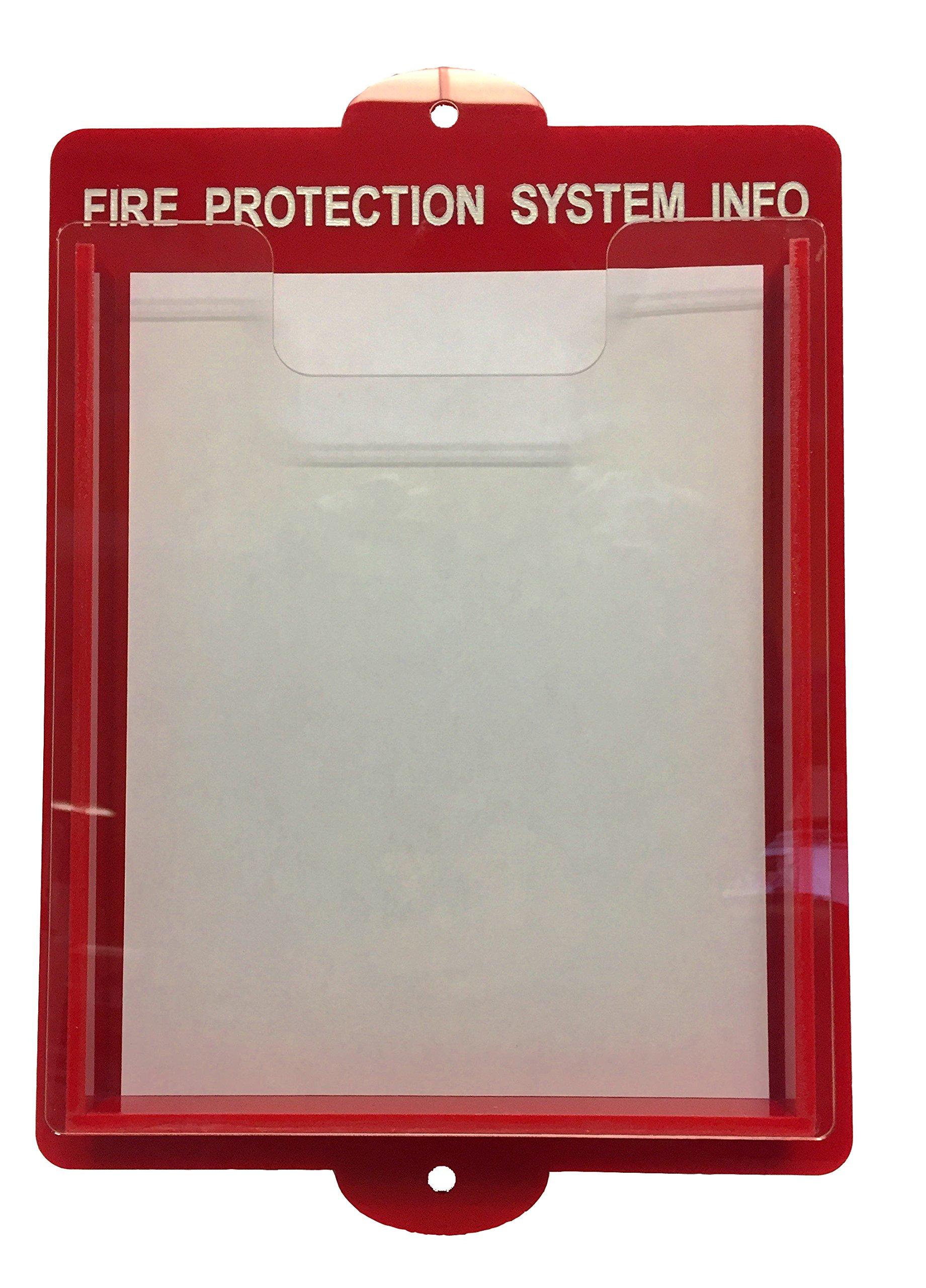 Fire Systems/Alarm Documents Box - 14'' x 11'' Acrylic Fire Document Holder