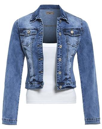 5b19df7619e SS7 New Women's Stretch Denim Jacket, Sizes 8 to 14: Amazon.co.uk: Clothing
